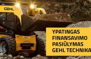 Ypatingas finansavimo pasiūlymas GEHL technikai