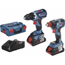 BOSCH GSR 18V-60 C + GDX 18V-200 C įrankių rinkinys 2x4 Ah