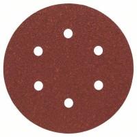 BOSCH šlifavimo popierius medienai K60 150 mm (5 vnt.)