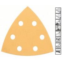 BOSCH Delta šlifavimo popierius medienai K60 (5 vnt.)