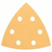BOSCH Delta šlifavimo popierius medienai K80 (5 vnt.)
