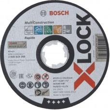 BOSCH X-LOCK Multi Construction pjovimo diskas 125x1 mm