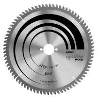 BOSCH OptilineWood pjūklo diskas 254x2 T60