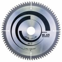 BOSCH MultiMaterial pjūklo diskas 216x2,5 mm T80