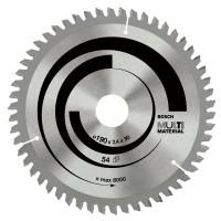 BOSCH MultiMaterial pjūklo diskas 190x2,4 mm T54