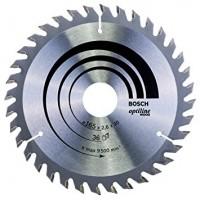BOSCH OptilineWood pjūklo diskas 165x2,6 mm T36
