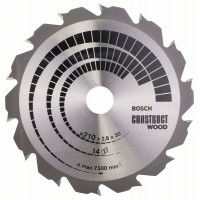 BOSCH ConstructWood pjovimo diskas 210x2,8 mm T14