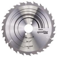 BOSCH SpeedlineWood pjūklo diskas 190x2,4 mm T24