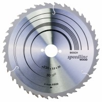 BOSCH SpeedlineWood pjūklo diskas 230x2,4 mm T30