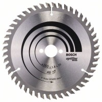 BOSCH OptilineWood pjūklo diskas 160x1,8 mm T48