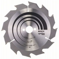 BOSCH OptilineWood pjūklo diskas 160x2.6 mm T12