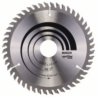 BOSCH OptilineWood pjūklo diskas 165x2,6 mm T48