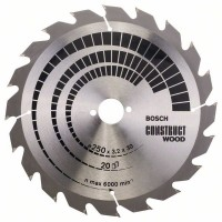 BOSCH ConstructWood pjovimo diskas 250x3,2 mm T20
