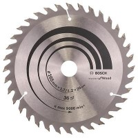 BOSCH OptilineWood pjūklo diskas 165x1,7 mm T36