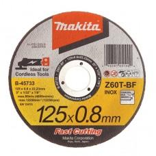 Makita Z60T-BF pjovimo diskas nerūdijančiam plienui 125x0,8 mm