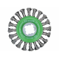 BOSCH X-LOCK Heavy for INOX metalinis šepetys 115 mm