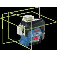 BOSCH GLL 3-80 CG kryžminių linijų lazeris + BM 1 L-boxx