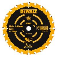 DeWALT pjovimo diskas medienai 184 mm T24