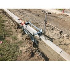 Optimas kelio borto betonavimo klojinys