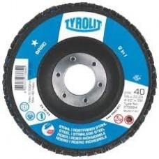 Tyrolit P40 vėduoklinis šlifavimo diskas plienui  125 mm