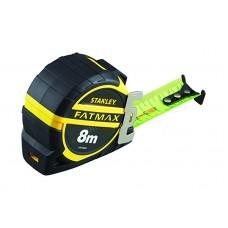 STANLEY FatMax matavimo ruletė 8 m 32 mm ryški + antgalis