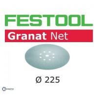 FESTOOL Granat Net šlifavimo popierius glaistui P150 225 mm (25 vnt)