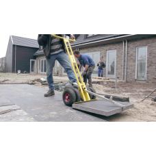 OPTIMAS vežimėlis šaligatvio plytelėms.