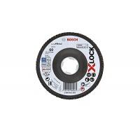 BOSCH X-LOCK Best for Metal žiedlapinis diskas 125 mm K60 Lenktas.