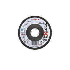 BOSCH X-LOCK Best for Metal žiedlapinis diskas 125 mm K60 Lenktas.