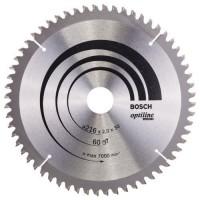 BOSCH OptilineWood pjūklo diskas 216x2 mm T60