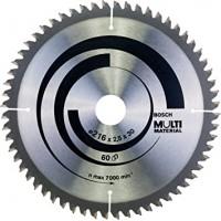 BOSCH MultiMaterial pjūklo diskas 216x2.5 mm T60