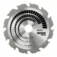BOSCH ConstructWood pjūklo diskas 190x2,6 mm T12