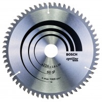 BOSCH OptilineWood pjūklo diskas 216x2.8 mm T60