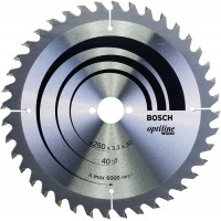 BOSCH OptilineWood pjūklo diskas 250x3.2 mm T40