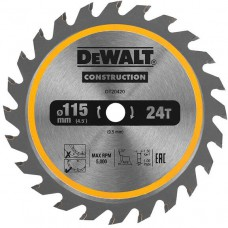 DeWALT pjovimo diskas medienai 115 mm 24 T